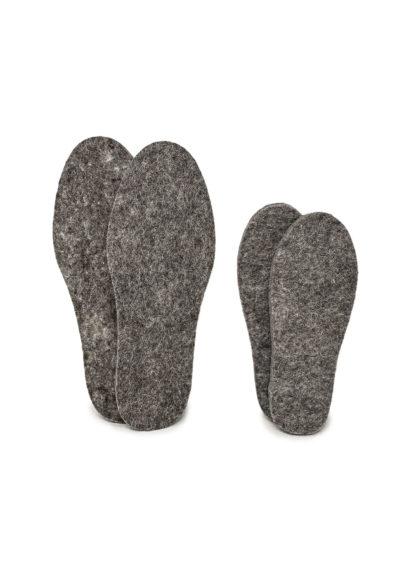 Einlegesohlen aus Wollfilz für Botties Sohlen / Wool felt insoles for Botties soles